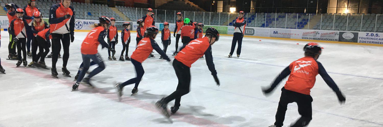 Jeugdschaatsen SC Gouda Uithof